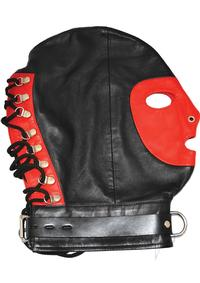 Rouge Mask W/d Ring and Lock Strap Blk/red