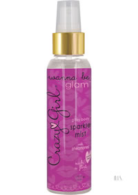 Crazy Girl Glitzy Body Mist Silver 4oz