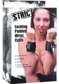 Strict Locking Padded Wrist Cuffs/chains