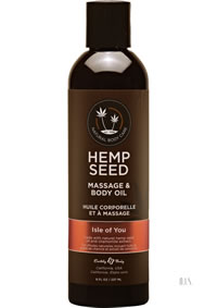 Hemp Massage Oil Isle Of You 8oz