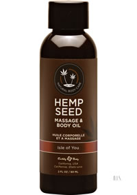 Hemp Massage Oil Isle Of You 2oz