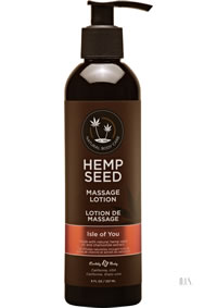 Hemp Massage Lotion Isle For You 8oz