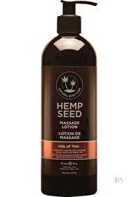 Hemp Massage Lotion Isle Of You 16oz