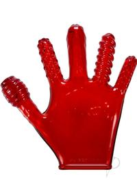 Finger Fuck Glove Clear Red