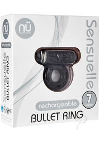 Sensuelle Bullet Ring 7 Func Cring Black