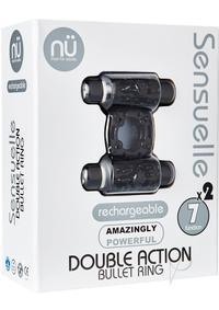 Sensuelle Dbl Action 7 Func Cring Blk