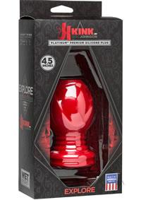 Kink Explore Anal Plug 4.5 Red