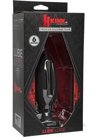 Silicone Lube Luge Plug 6`` Black