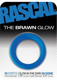 Rascal Brawn Cockring Glow Blue