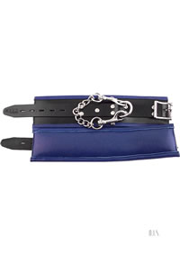 Rouge Padded Wrist Cuffs Black/blue