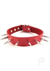 Rouge Spiked Collar Red