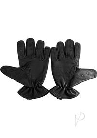 Rouge Vampire Gloves Black Extra Large