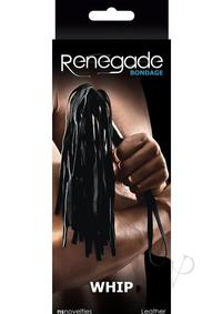 Renegade Bondage Whip Black