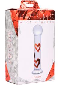 Prisms Lil Hearts Glass Plug