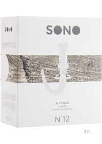 Sono No 12 Butt Plug 4 Inch Transparent