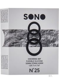 Sono No 25 Cockring Set Black