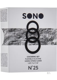 Sono No 25 Cockring Set Grey