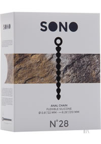 Sono No 28 Anal Chain Black