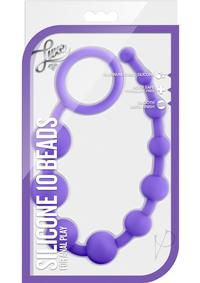 Luxe Silicone 10 Beads Purple