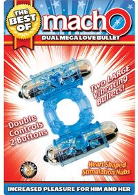 Best Of Macho Dual Mega Love Bullet Blue