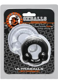 Ultraballs 2 Pack Cockring Back And Clea