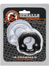 Ultraballs 2pk Cockring Blk/clr