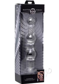 Ms Mammoth 3 Bumps Glass Dildo