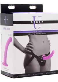 Strap U Silicone Gspot Dildo W/harness