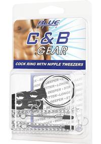 Cb Gear Cockring W/nipple Tweezers
