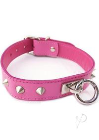 Rouge O Ring Studded Collar Pnk