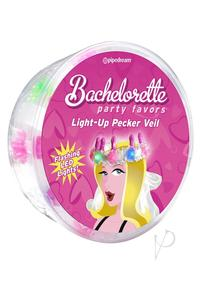 Bachelorette Party Light Up Pecker Veil