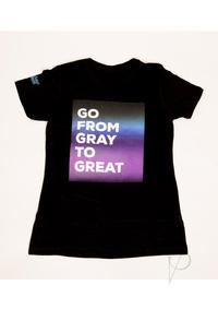 Women From Gray To Great Tee Blk Med