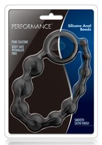 Performance Silicone Anal Beads Blk