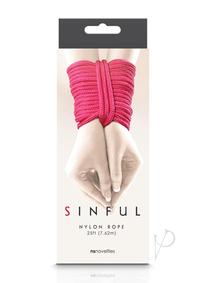 Sinful Nylon Rope Pink 25ft