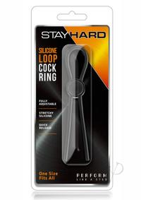 Stay Hard Silicone Loop Cock Ring Black