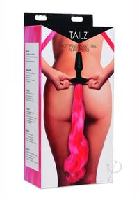 Tailz Pony Tail Anal Plug Hot Pink
