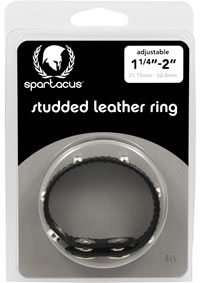 Studded Sewn Leather Cock Ring