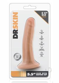 Dr Skin Cock W/suction 5.5 Vanilla