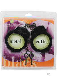 Black Coated Handcuffs - Dbl Lock