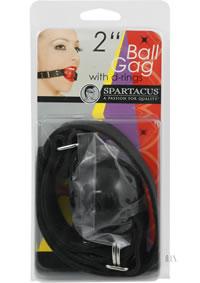 Large Black Ball - D Ring