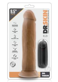 Dr Skin Dr Throb Vibe Cock W/suction Moc