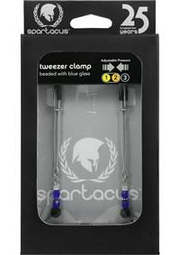 Blue Beaded Clamps - Tweezer
