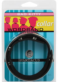 Wordband Collar - Bad Kitty