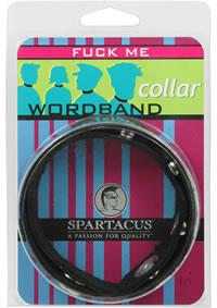 Wordband Collar - Fuck Me