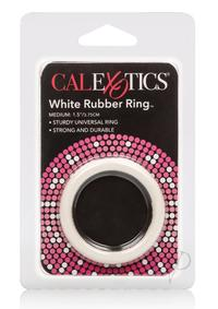 Rubber Cock Ring White Medium