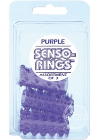 Senso Rings Purple 3-pack