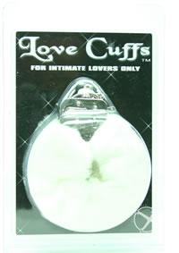Plush Love Cuffs White