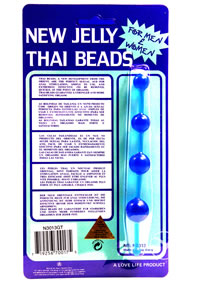 Jelly Thai Anal Beads Blue