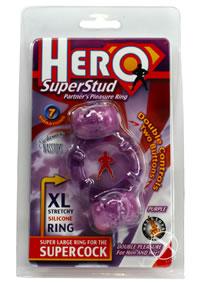 Hero Superstud Pleasure Ring - Purple