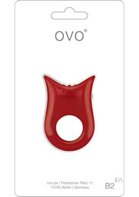 Ovo B2 Vibrating Ring Red
